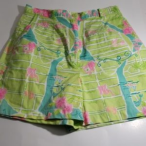 Lilly Pulitzer size 2 high waist belted shorts